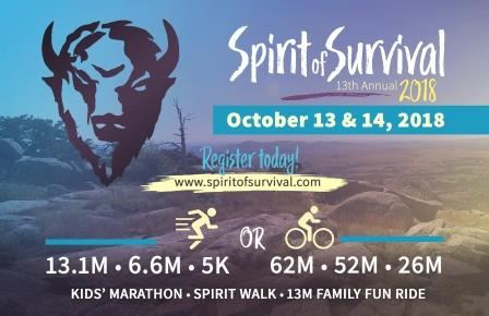 spirit of survival half marathon quarter marathon 5k bike tour