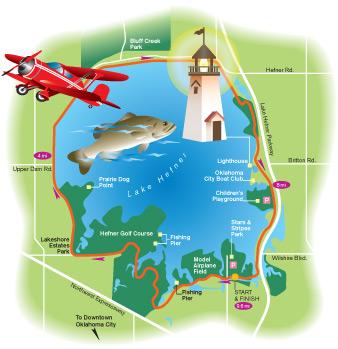Continental magazine spolights lake hefner the for Lake hefner fishing